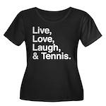 love and tennis Women's Plus Size Scoop Neck Dark