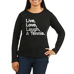 love and tennis Women's Long Sleeve Dark T-Shirt