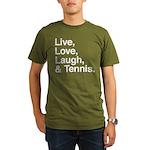 love and tennis Organic Men's T-Shirt (dark)