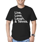 love and tennis Men's Fitted T-Shirt (dark)