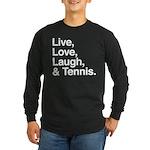 love and tennis Long Sleeve Dark T-Shirt