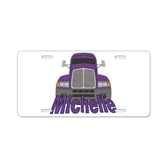 Trucker Michelle Aluminum License Plate