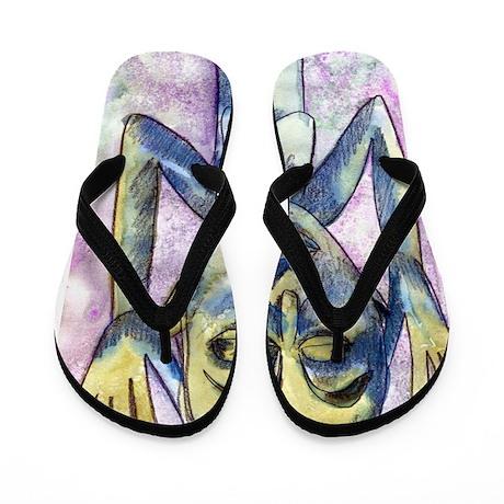 Africa Caryatid Flip Flops