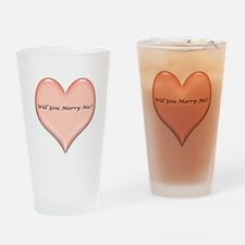 marrymeheart.jpg Drinking Glass