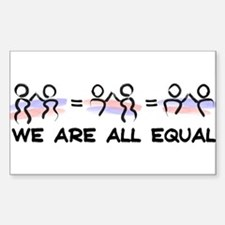 Equal Pairs Logo Sticker (Rectangle)