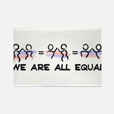 Equal Pairs Logo Rectangle Magnet