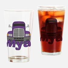 Trucker Mya Drinking Glass
