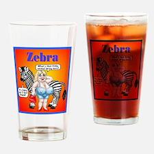 Zebras Drinking Glass