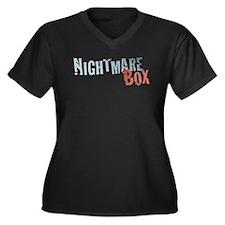 Nightmare Box Logo Women's Plus Size V-Neck Dark T