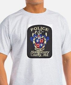 Montgomery County Police Ash Grey T-Shirt
