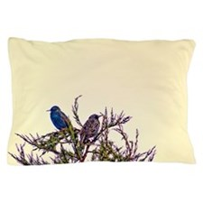 Pair of Starling Birds Pillow Case