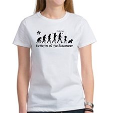 evolution_schnauzer_dark_t T-Shirt