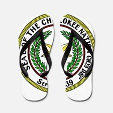 Great Seal of the Cherokee Nation Flip Flops
