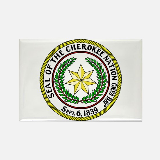 Great Seal of the Cherokee Nation Rectangle Magnet