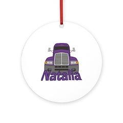 Trucker Natalia Ornament (Round)