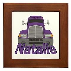 Trucker Natalie Framed Tile