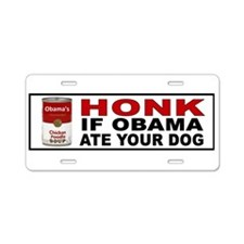 OBAMA DOG BUMPER Aluminum License Plate
