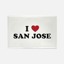 I Love San Jose California Rectangle Magnet