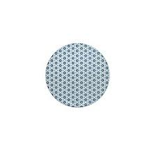 Blue star pattern Mini Button