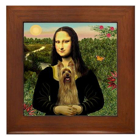 Mona's Silky Terrier Framed Tile