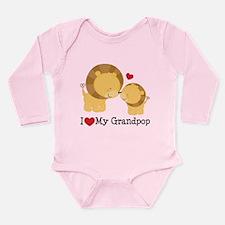 I Heart My Grandpop Long Sleeve Infant Bodysuit