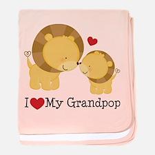 I Heart My Grandpop baby blanket