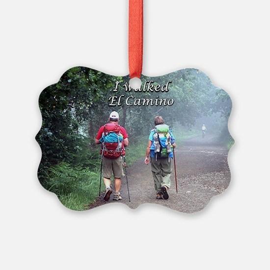 I walked El Camino, Spain, walker Ornament