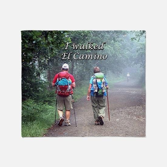 I walked El Camino, Spain, walkers 3 Throw Blanket