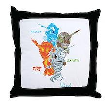 Elemental Harmony Throw Pillow