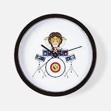 Hippie Boy Drummer Wall Clock