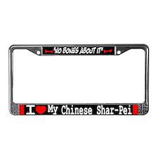 NB_Chinese Shar-Pei License Plate Frame