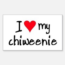 I LOVE MY Chiweenie Sticker (Rectangle)