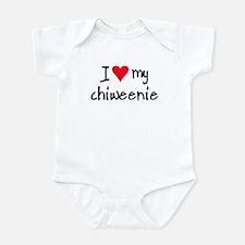 I LOVE MY Chiweenie Infant Bodysuit