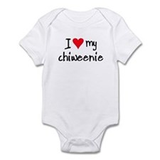 I LOVE MY Chiweenie Onesie