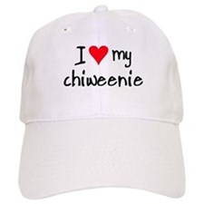 I LOVE MY Chiweenie Baseball Cap