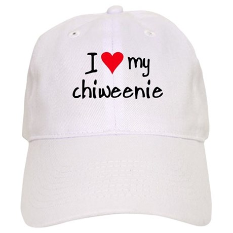 I LOVE MY Chiweenie Cap