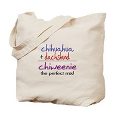 Chiweenie PERFECT MIX Tote Bag
