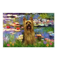 Lilies & Silky Terrier Postcards (Package of 8)