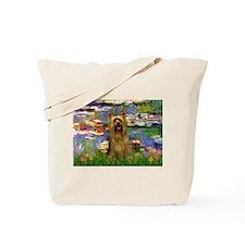Lilies & Silky Terrier Tote Bag