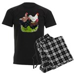 Heavy Breed Roosters Men's Dark Pajamas