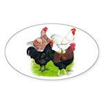 Heavy Breed Roosters Sticker (Oval 50 pk)