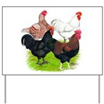Heavy Breed Roosters Yard Sign