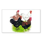 Heavy Breed Roosters Sticker (Rectangle)
