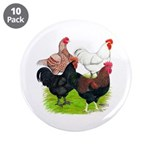 "Heavy Breed Roosters 3.5"" Button (10 pack)"
