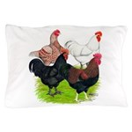 Heavy Breed Roosters Pillow Case
