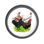 Heavy Breed Roosters Wall Clock