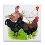 Heavy Breed Roosters Tile Coaster
