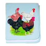 Heavy Breed Roosters baby blanket