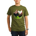 Heavy Breed Roosters Organic Men's T-Shirt (dark)