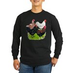 Heavy Breed Roosters Long Sleeve Dark T-Shirt